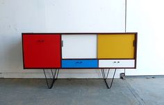great upcycling of a vintage sideboard