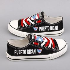 c47fb1e85d Custom Printed Low Top Canvas Shoes - Puerto Rican Pride Pride Shoes