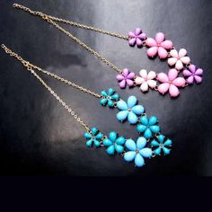 Fashion #Necklace, with #Resin, different color give you different mood.