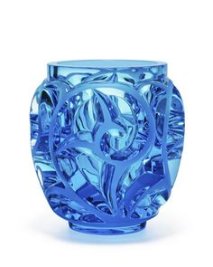 """Vase made of lead crystal. Edition limited to 999 pieces world wide. Approximately 8""""T. Made in France."""