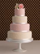 Różowy Tort Weselny - Pink Wedding Cake
