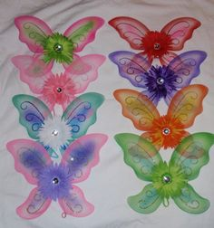 Mini Fairy Butterfly Wings with Gerber by ButterfliesnLadybugs, $6.00