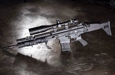 SCAR-H with large scope sight. jdm