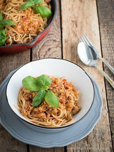 Archiwa: DANIA OBIADOWE - Każdy ma jakiegoś bzika - Pieguskowa kuchnia Spaghetti Bolognese, Ethnic Recipes, Food, Essen, Meals, Yemek, Eten