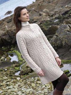 FLARED COAT X4247 [135] - $125.00 : Irish Sweaters Aran Sweater, Irish Wool Sweaters