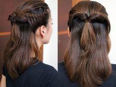 braids and pony half updo