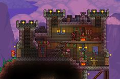 Nothing is impossible in this action-packed adventure game. The world is your canvas and the ground itself is your paint. Terraria House Design, Terraria House Ideas, Terraria Tips, Journey's End, Movie Wallpapers, Building Design, Building Ideas, Minecraft Houses, Studio Ghibli