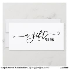 Simple Modern Minimalist Business Gift Certificate Save The Date Magnets, Save The Date Cards, Massage Gift Certificate, Baby Gift Box, Baby Gifts, Consultant Business, Save The Date Templates, Save The Date Invitations, Gift Vouchers