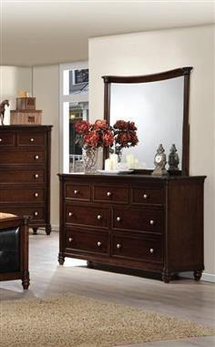 Amaryllis Collection Brown Wood Glass Dresser