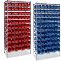 Economical High-Density Wire Bin Shelving by C $723.00. Wire storage system features QUANTUM shelf bins.