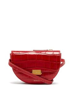 a63be72ba5 Anna crocodile-effect leather belt bag