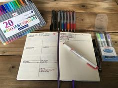 Bullet Journal Bleed and Ghosting Test