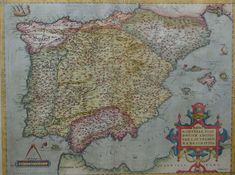 Political map of the Iberian Peninsula in 1570 Old World Maps, Old Maps, Antique Maps, Vintage World Maps, Spain History, Spanish Netherlands, Free Maps, Iberian Peninsula, Historical Maps