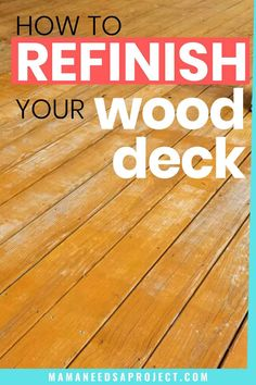 Restaining your wood deck can totally transform your outdoor space! Learn what to do (and not to do) from my deck restaining project. Woodworking Tutorials, Popular Woodworking, Staining Pressure Treated Wood, Staining A Deck, Painted Wood Deck, Deck Cleaner, Cleaning Wood, Diy Deck, Cleaning