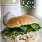 Slow Cooker Chicken Caesar Sandwiches are my favorite recipe to feed a crowd! An easy delicious healthy dinner that can be thrown in the slow cooker or Instant Pot. Slow Cooker Recipes, Crockpot Recipes, Chicken Recipes, Cooking Recipes, Healthy Recipes, Fast Recipes, Cooking Tips, Tacos Crockpot, Recipe Chicken