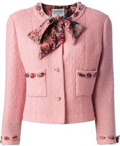 Chanel Vintage Boucle Jacket And Skirt Suit. Buy for $3,557 at farfetch.com.
