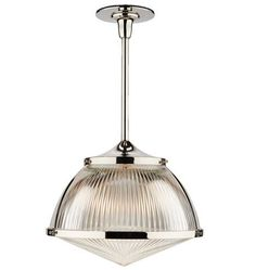 Laurelhurst 16in. Pendant with Prismatic Dome and Glass Lens  A0013
