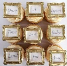 Story book baby shower party cupcakes! See more party ideas at CatchMyParty.com!