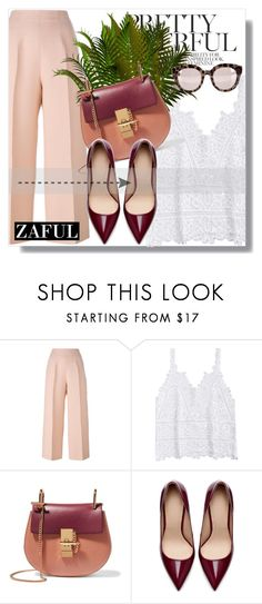 """Zaful!"" by dianagrigoryan ❤ liked on Polyvore featuring Fendi, Chloé, Zara and Dolce&Gabbana"