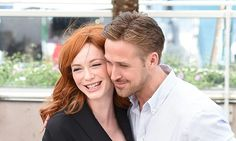 Ryan Gosling cosies up to Christina Hendricks at Lost River photo call