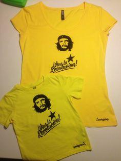 Unikat! Luxurypimp Partner-T-Shirt Mutter & Kind Ché Guevara