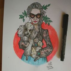 Linda Rodin Sketch by Francesc Escriche @fescr on ig