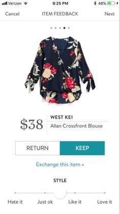 Beautiful. Out my usual, but would like to try. Love the large dark floral print, crossover style, lower back curve hem and arm details.