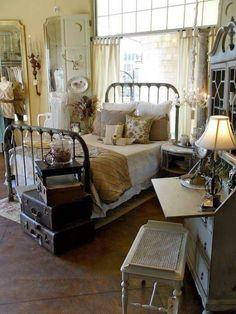 Shabby Chic Decor Bedrooms Dressing Bedroom Vintage Cozy Primitive Cottage