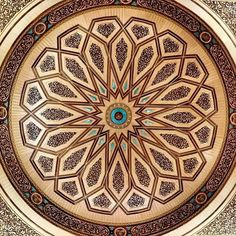 From from @islamicthinking -  The details of the under side of the great domes inside Masjid Nabwi,