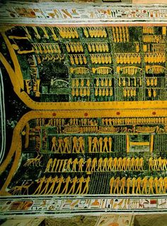 Ceiling of tomb of Ramses VI, Sky goddess Nut