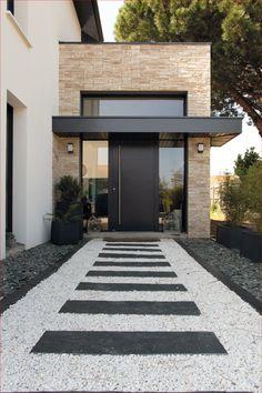 Modern Entrance Door, Entrance Design, House Entrance, Door Design, Entrance Doors, Modern Front Door, Dream Home Design, Modern House Design, Modern House Facades