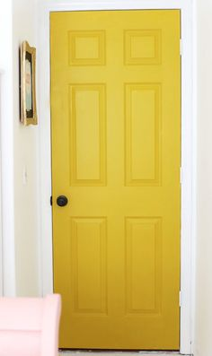 Trendy Ideas For Yellow Front Door Colors Behr Behr, House, Yellow Doors, Home, Painted Doors, Front Door, Yellow Front Doors, Trending Paint Colors, Doors