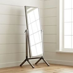 Malvern Cheval Floor Mirror - Crate and Barrel Long Mirror, Over The Door Mirror, Door Mirrors, Bedroom Mirrors, Freestanding Mirrors, Decorative Mirrors, Dressing Room Design, My New Room, Crate And Barrel