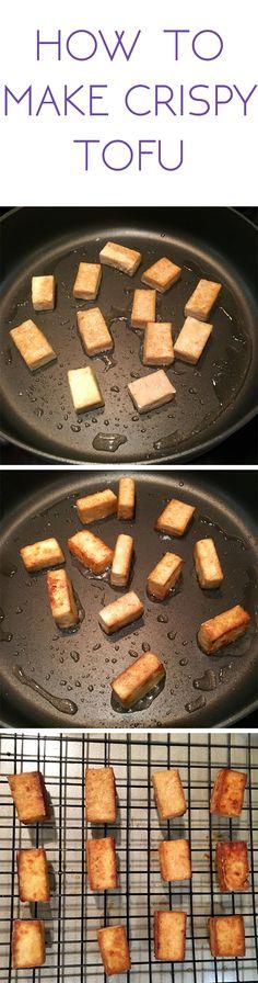 How to make crispy tofu for beginners