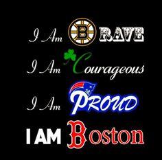 Boston Bruins, Boston Celtics, New England Patriots & Boston Red Sox