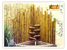 Fonte em bambu