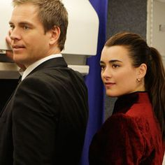 Michael Weatherly and Cote de Pablo as Tony and Ziva on NCIS (CBS)