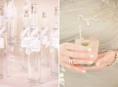 Modern Lucite Wedding Escort Cards