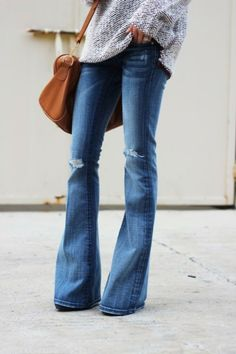 Flared Denim - I love big, flare bottom. It's a nice switch up from the skinnies every now and then - NF