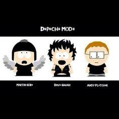 Depeche Mode estilo South Park!  #dmfcbr  #dm  #devotee