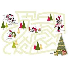 FREE Disney Christmas Printable - Mickey's Merry Maze