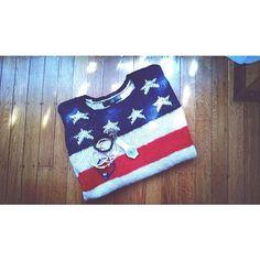 Yesterday's patriotic attire #redwhiteandblue #ootd #dailydetails via @ravingfashionista