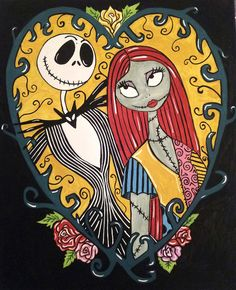 Jack Skellington and Sally 2 Canvas Print