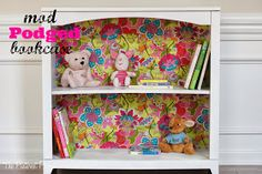 The Pinterest Project: A Little White Mod Podge Bookcase