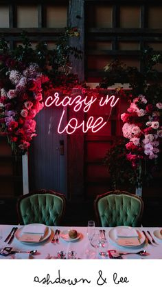 Wedding Neon Sign Crazy In Love Beyoncé Sydney Wedding Stylist Styling Ovolo Ho. - Wedding Neon Sign Crazy In Love Beyoncé Sydney Wedding Stylist Styling Ovolo Hotel Wooloomooloo Mo - Wedding Goals, Wedding Themes, Wedding Signs, Our Wedding, Wedding Planning, Dream Wedding, Wedding Quotes, Party Quotes, Wedding Ceremony