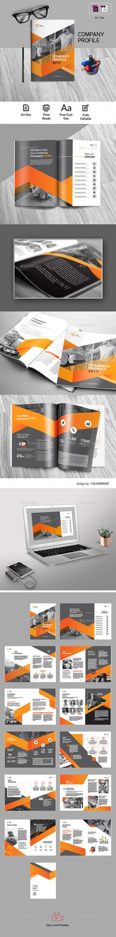 Company profile template indesign indd company profile design company profile pronofoot35fo Gallery