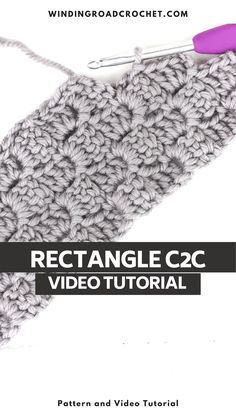 Learn to crochet a corner to corner rectangle with this video, graph and photo tutorial. Crochet Stitches For Blankets, Afghan Crochet Patterns, Corner To Corner Crochet, Photo Tutorial, Learn To Crochet, Crochet Necklace, Tejidos, Crochet Collar, Crochet Afghan Patterns