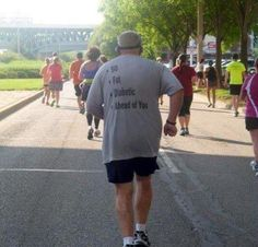 Picture: T-shirt of the day from the 2013 London Marathon