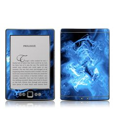 Kindle 4 Skin - Blue Quantum Waves by DecalGirl Collective | DecalGirl