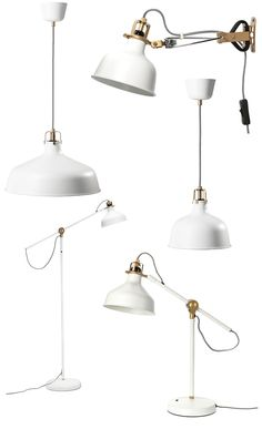 Ranarp lamp... Love small pendant over sink, big pendants over island or bar, and desk lamp or clamp for bedside